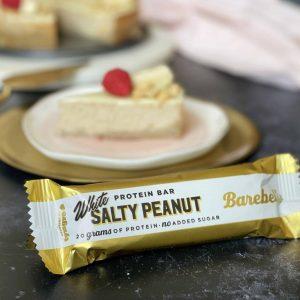 White salty peanut cheesecake